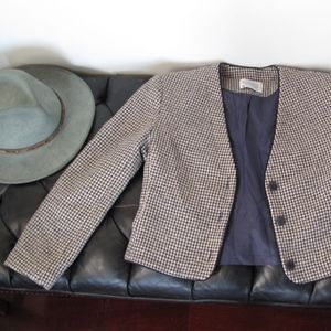 Miss Pendleton brown wool Houndstooth Jacket